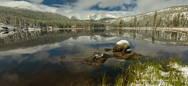 Sprague Lake After The Snow
