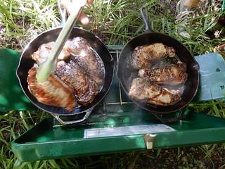 steak dinner, caveman style