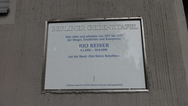 2013 Berlin Berliner Gedenktafel Rio Reiser (1950-1996) wohnhaft B96 Tempelhofer Ufer 32 in 10963 Kreuzberg