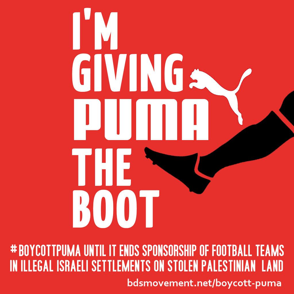 20多國的運動團體加入抵制puma的行動。(圖片來源:bdsmovement.net)