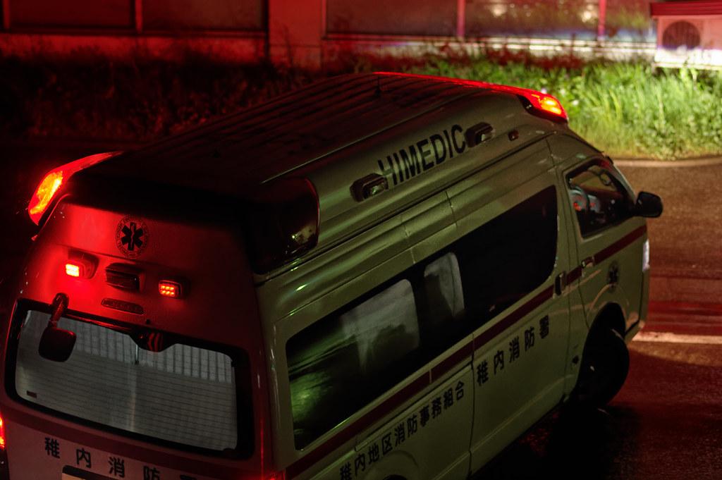 An ambulance left our apartment house.