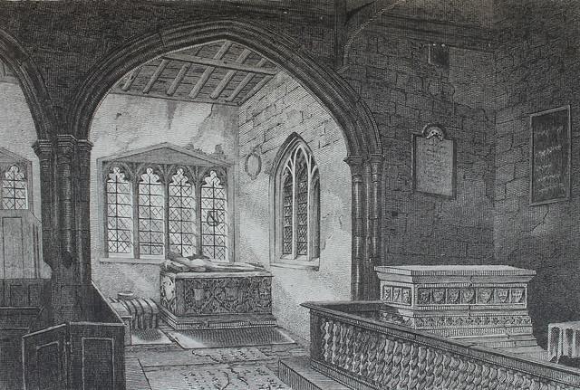 KIngs Langley Church interior, Hertfordshire, c.1806