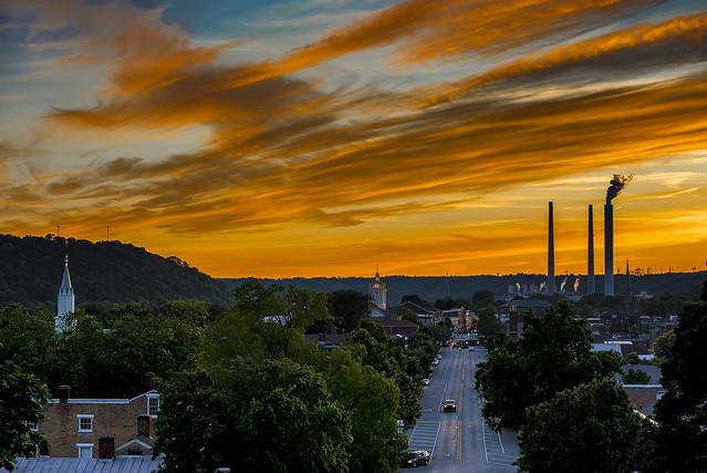 Sunset over Madison