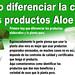 Cómo diferenciar la calidad de los productos Aloe vera