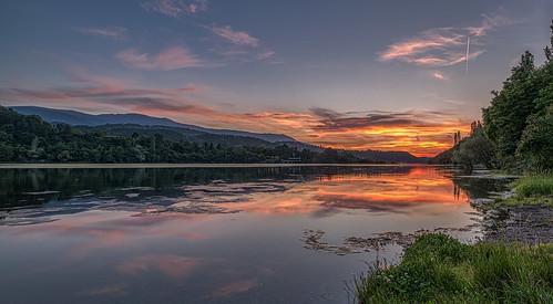 nikon d810 nikond810 irix 15mm irix15mm bulgaria pancharevo dam water clouds sunset trees sky landscape colorfull