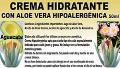 Crema Hidratante Hipoalergénica con Aloe vera