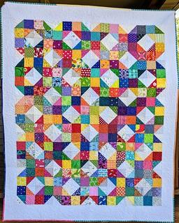 Rainbow Wheel Quilt Hope Circle