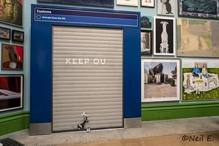 Banksy at the Royal Academy Summer Exhibition 2019.