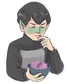 Sarek with ice cream