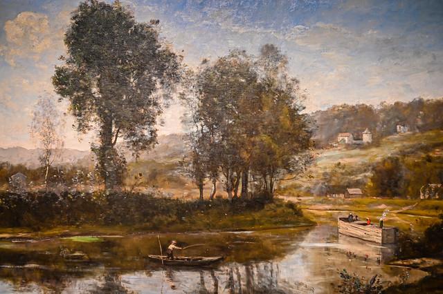 Jean-Baptiste-Camille Corot - The Bend in the Seine at Port-Marly, 1972 at Cincinnati Art Museum - Cincinnati OH