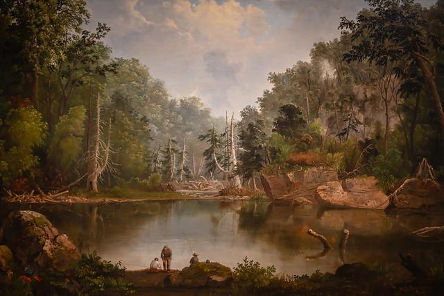 Robert Duncanson - Blue Hole Flood Waters Little Miami River, 1851 at Cincinnati Art Museum - Cincinnati OH
