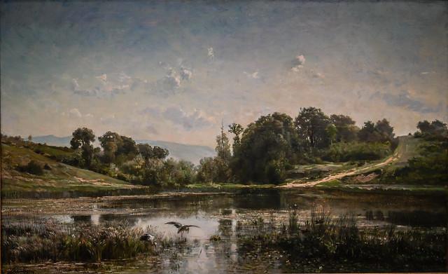Charles Francois Daubigny - The Pond at Gylieu, 1853 at Cincinnati Art Museum - Cincinnati OH