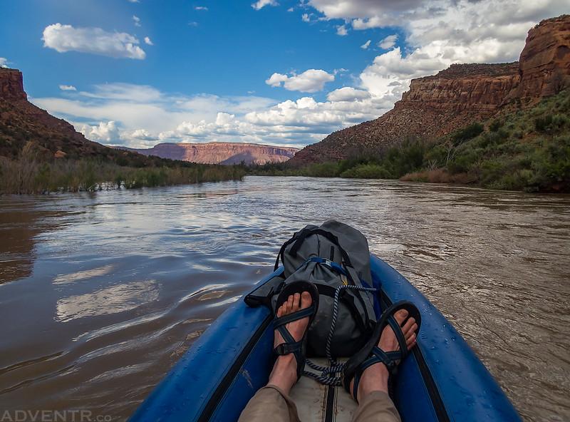 Leaving Slick Rock Canyon