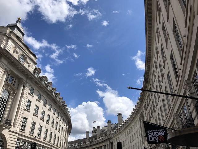 the curve of Regent Street