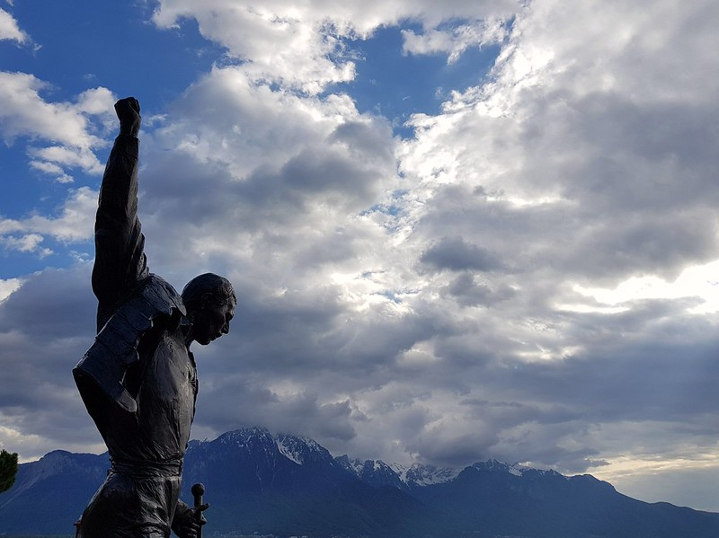 Freddie Mercury. Montreux.