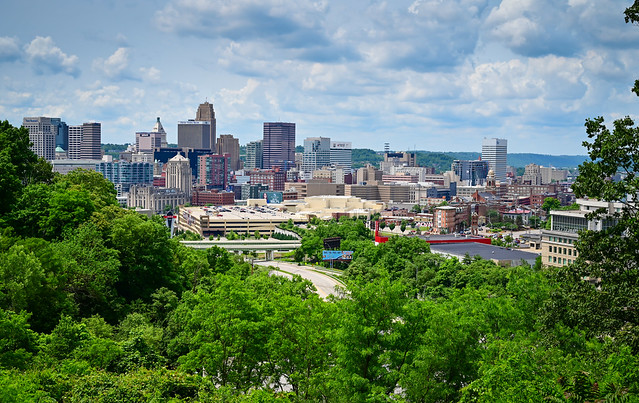 City Skyline viewed from Cincinnati Art Museum - Cincinnati OH