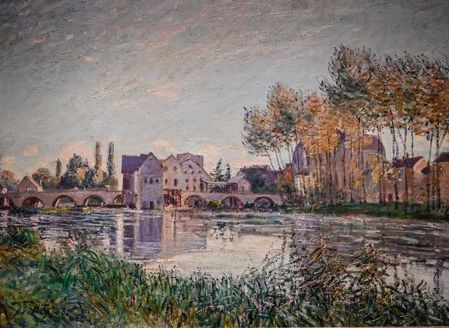 Alfred Sisley - Moret at Sunset, 1888 at Cincinnati Art Museum - Cincinnati OH