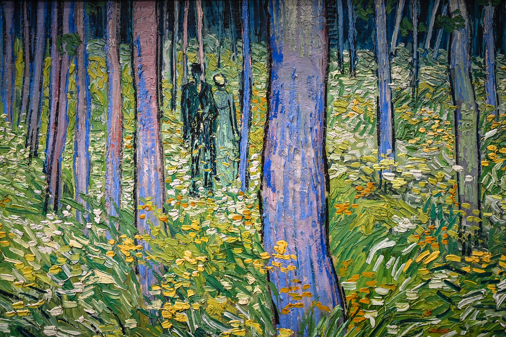 Vincent van Gogh - Undergrowth with Two Figures,