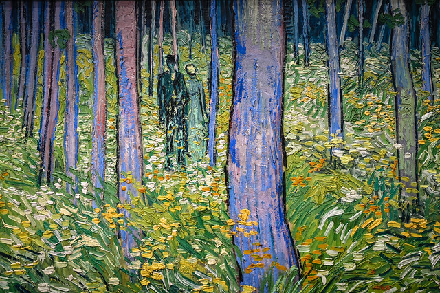 Vincent van Gogh - Undergrowth with Two Figures, 1890 at Cincinnati Art Museum - Cincinnati OH