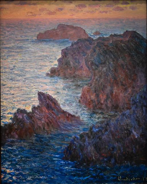 Claude Monet - Rocks at Belle-Ile Port-Dormois, 1886 at Cincinnati Art Museum - Cincinnati OH