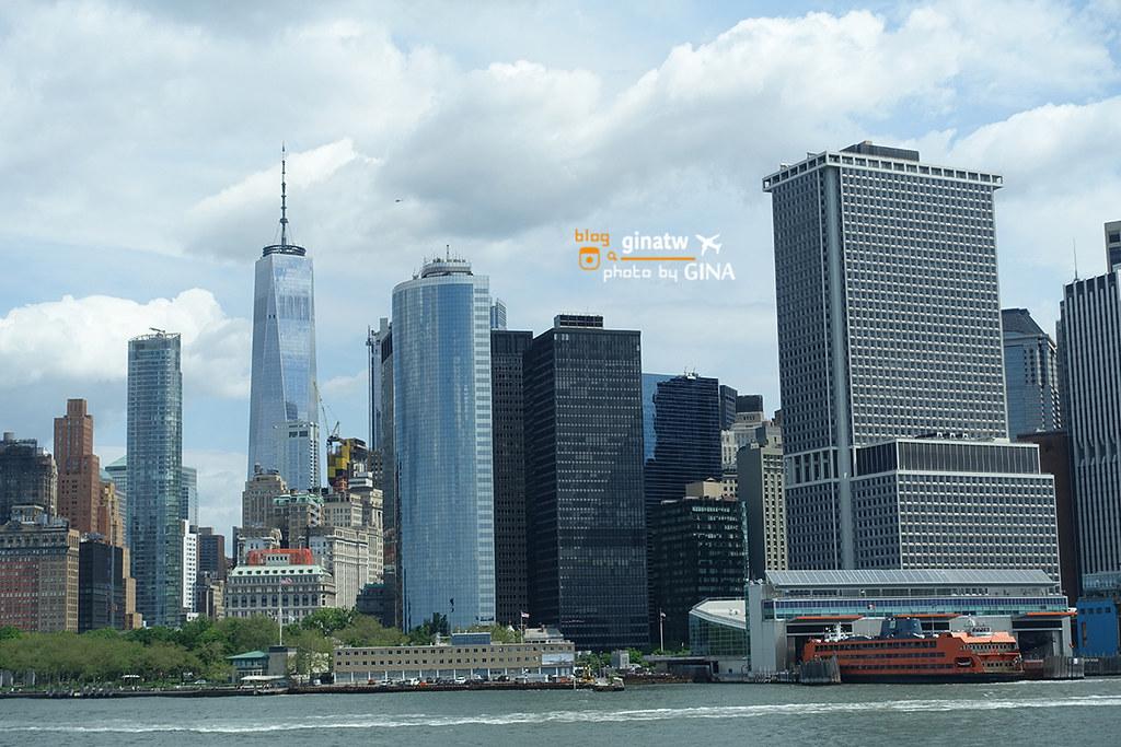【2020美東自由行】紐約遊船之旅|遠眺自由女神像|布魯克林、曼哈頓大橋景致盡收眼底(隨上隨下觀光船) @GINA環球旅行生活|不會韓文也可以去韓國 🇹🇼