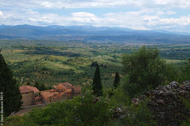 Sparti from Mystras with Metropolis in Foreground