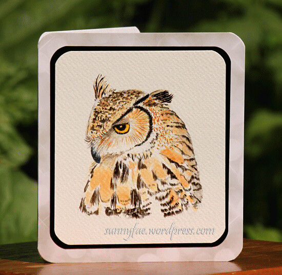 owl fathers day card
