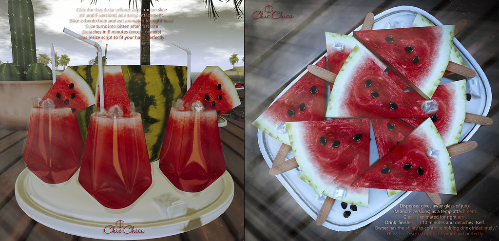 Watermelon Juice and slices by ChicChica @ Cosmopollitan