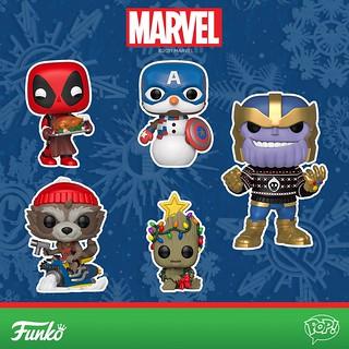 死侍端火雞給你吃、還有美國隊長雪人給你玩! Funko Pop! Marvel【節慶主題角色】Holiday