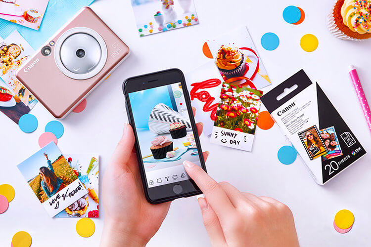 pocket-sized instant camera and mini printer