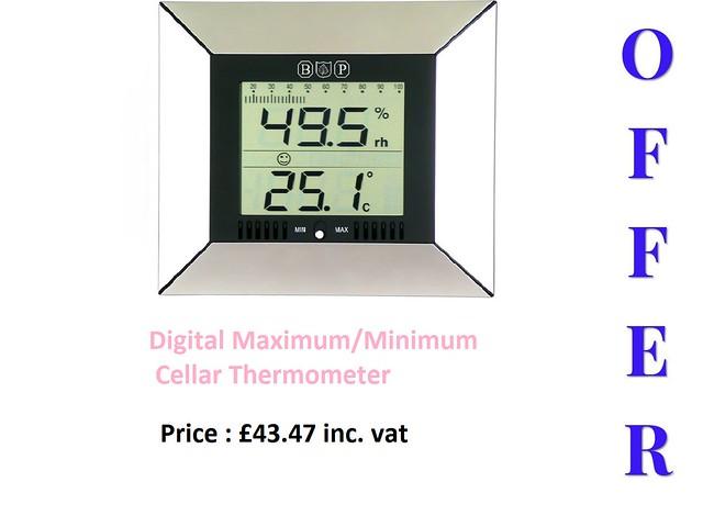 Digital Maximum/Minimum Cellar Thermometer/Hygrometer
