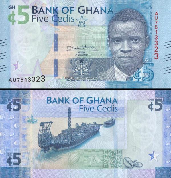 5 Cedis Ghana 4.8.2017, P44