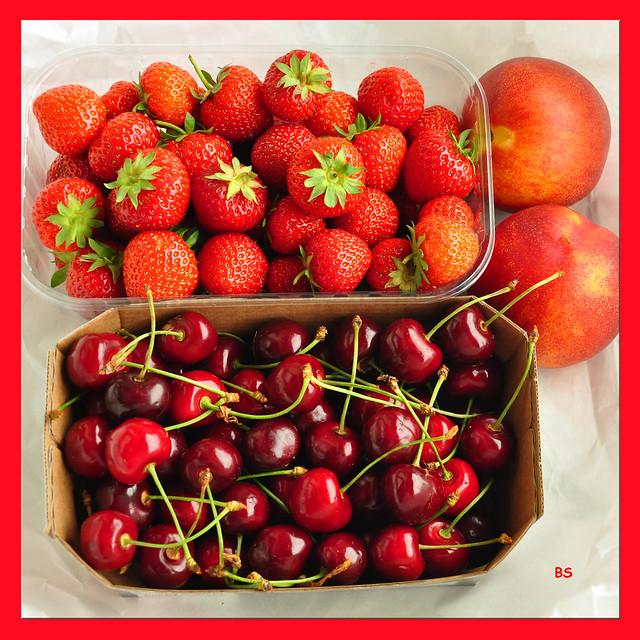 Erdbeeren, Spargel, Kirschen ... Erdbeer-Skandal in Mannheim _ Baden-Württemberg ... Fotos: Brigitte Stolle 2019