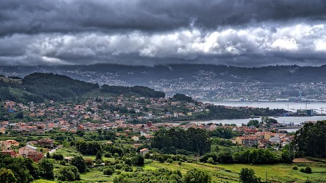 Panorámica de Meira-Moaña (Pontevedra)
