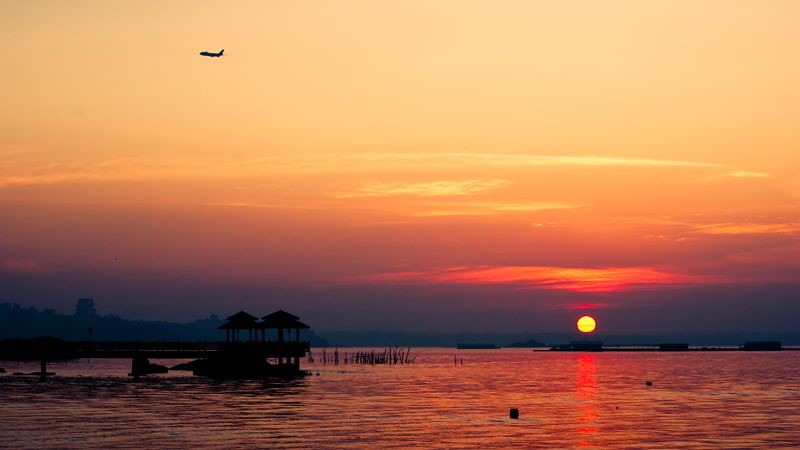 Changi Village in the sunset
