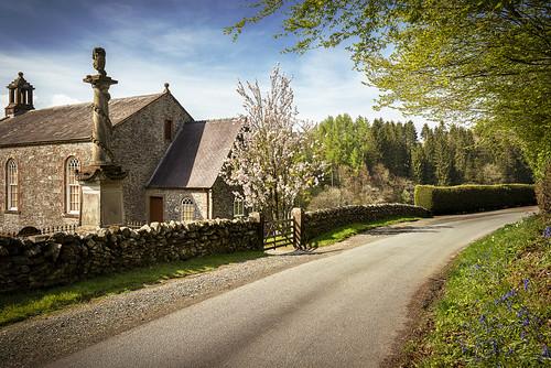 wamphray parish church landscape tree sky cross road