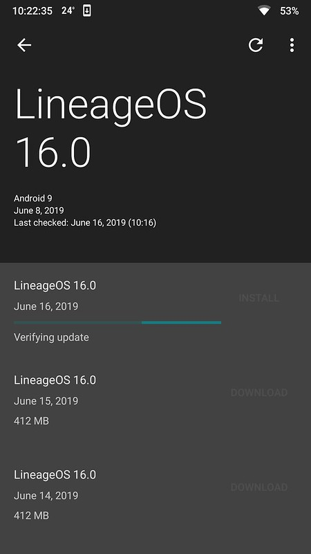 Lineage OS 16 OnePlus One-on