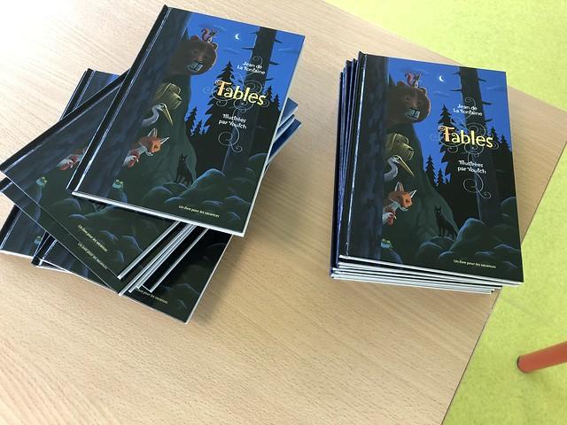 Opération « Un livre pour les vacances » 2019: les Fables de la Fontaine, illustrées par Voutch