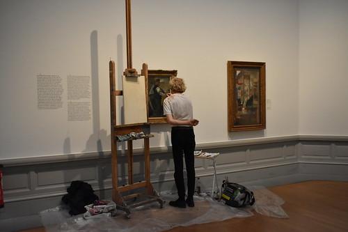 Restauración de una pintura