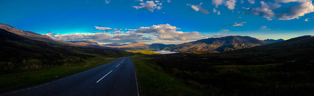 The Kylesku road looking towards Loch Assynt