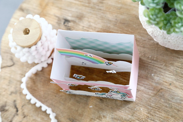 Shadow box rainbow add-on (Lawn Fawn inspiration week)