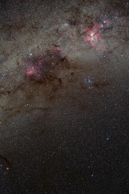 Nebulae in Carina and Centaurus with Sigma 105mmF1.4 Art May 2019 Dark Version