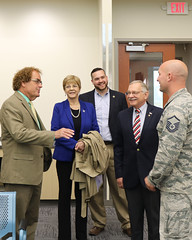 Representatives Davis, Zawistowski, Delnicki and Simanski toured the new National Guard air terminal with Adjutant General, Major General Evon, Air National Guard Wing Commander Colonel Gwinn and USAF Master Sergeant Ewings