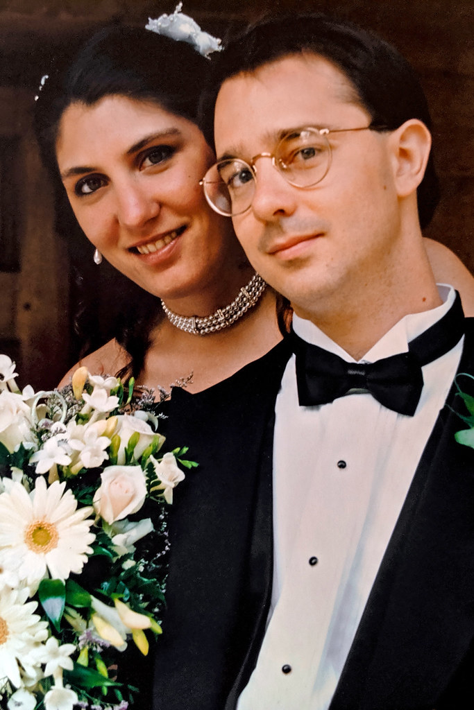 Krissy and I on our wedding day, 6/17/95.