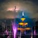 Thunderstorm over Unirii Fountains / Bucharest