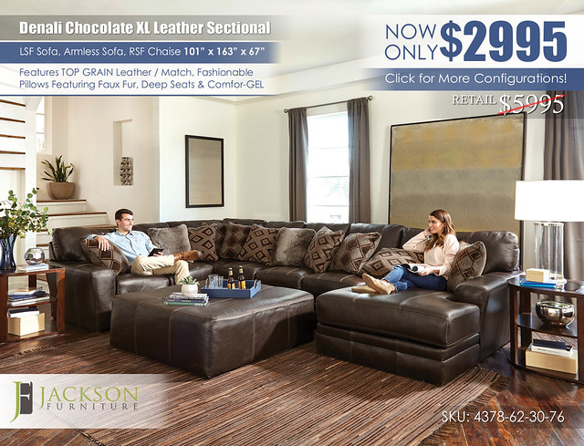 XL Denali Sectional_4378_denali_chocolate_ju1390