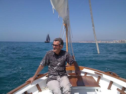 Navegant dissabte des del port a la Confraria