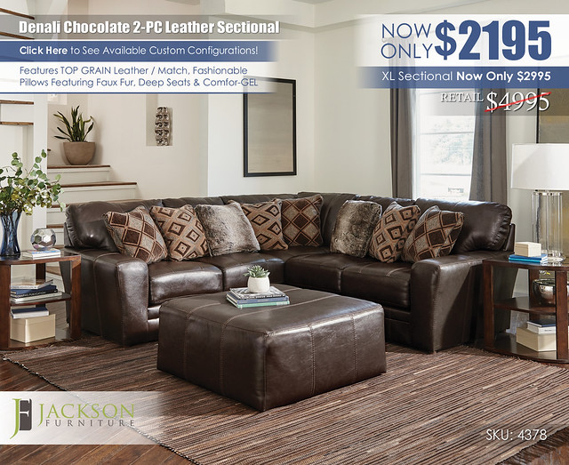Denali 2-PC Chocolate Leather Sectional_4378_denali_chocolate_ju1391a
