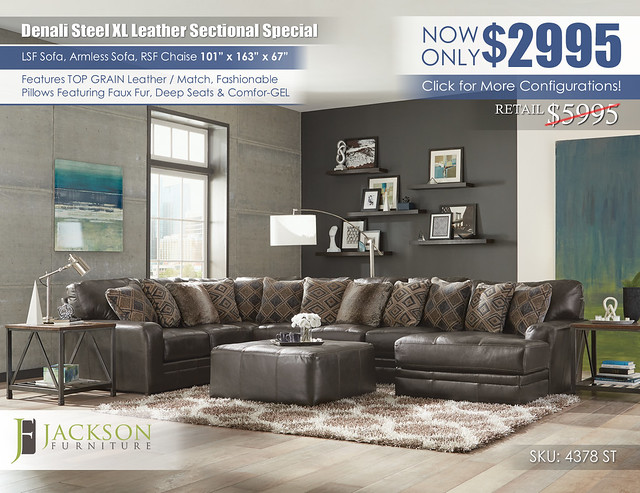 Denali Steel XL Leather Sectional_4378_denali_steel_ju1393