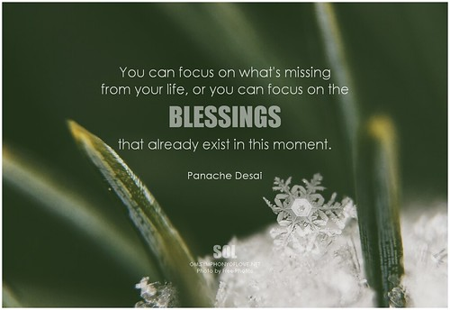 Panache Desai Quote: Panache Desai You Can Focus On What's Missing From Your Li